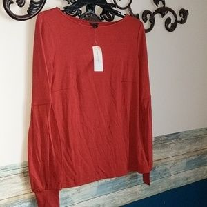 New Ann Taylor rust blouse